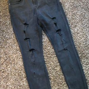 Express Jeans - Black Distressed Express Jeggings